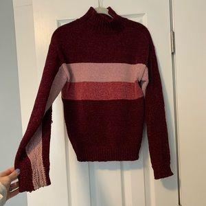 lovers + friends chenille turtleneck sweater
